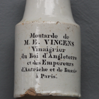 ~~~1850's French Mustard Jar~~~