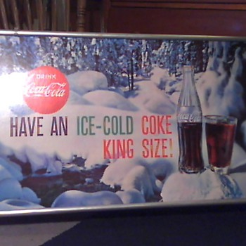 Coca-Cola Cardboard sign