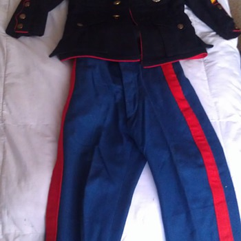 Vintage Child's USMC Dress Blues Uniform - Military and Wartime