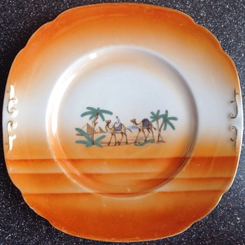 Art Deco Czechoslovakian plate - China and Dinnerware