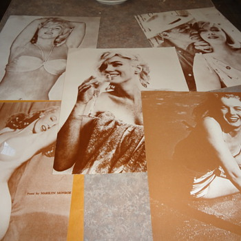 Marilyn Monroe lot of 5 vintage black and white posters - Movies