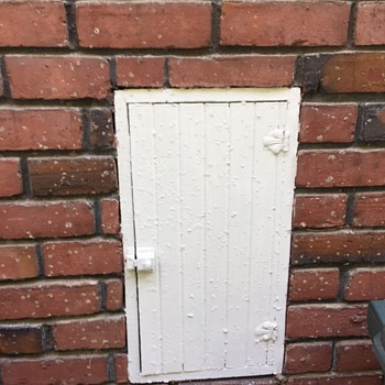 Milk bottle home delivery door