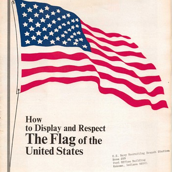 "1968 - U.S. Navy Pamphlet - ""Flag Display"""