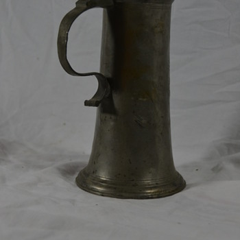 Antique Metal Stein (pewter? steel?) Beer with Lid