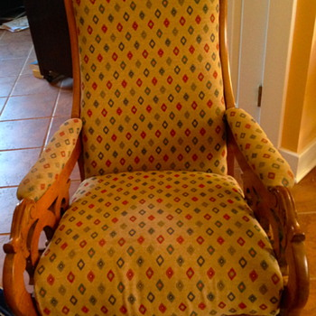 Antique Rocker my Mom bought - Furniture