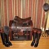 Vintage KOPF English Dressage Saddle and Display