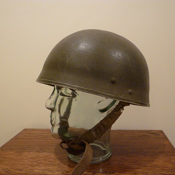 British WWII converted paratrooper steel helmet - Military and Wartime
