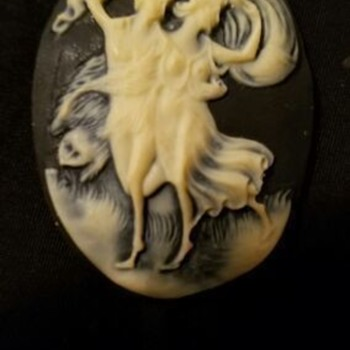 Cameo Necklace---The Storm,