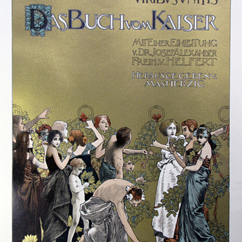 Koloman Moser Original Lithographs from Das Buch vom Kaiser (1898) - Art Nouveau