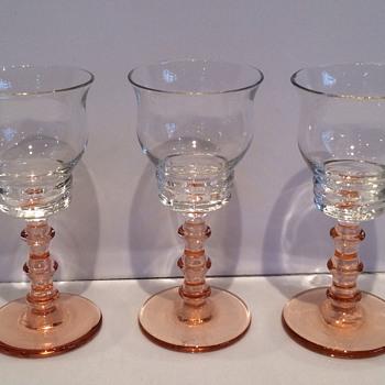 Antique cranberry glasses - Glassware