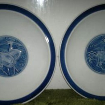 Asian Plates - Art Pottery