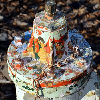 Old and very colorful shabby Fire Hydrant