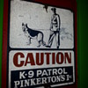 1940's Vintage Pinkertons Painted Tin Sign