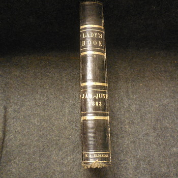 "Antique Book ""Lady's Book"" ""1863"""