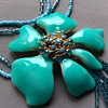 Enamel  and glass necklace