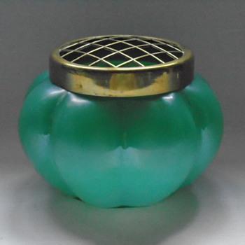 Art Nouveau Kralik Rose Bowl - Art Glass