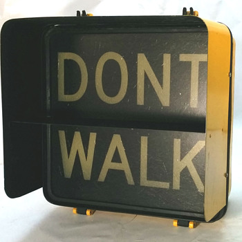 1980 Winko-Matic pedestrian signal from New York City