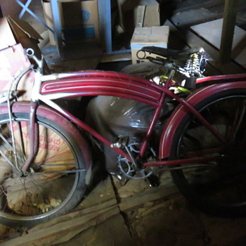 Hiawatha Bicycle  in attic