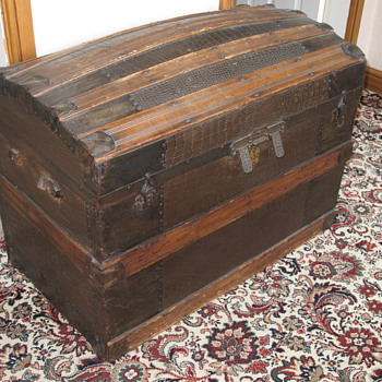 Steamer Aligator Covered Trunk - Furniture