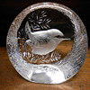Vintage Mats Johasson Signed & Numbered Crystal Paperweight