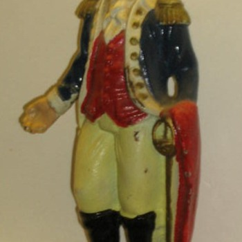 George Washington cast iron bank - Coin Operated
