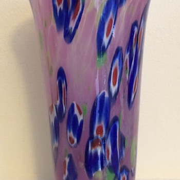 Kralik millefiori lemonade glass - Art Glass
