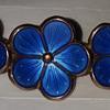 Art Nouveau Enamel on Silver Scandinavian Guilloche Brooch