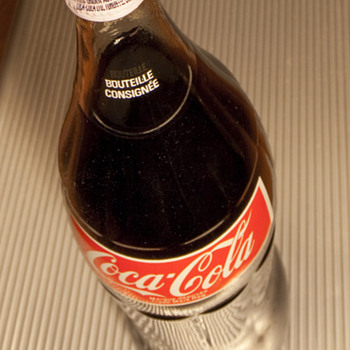 Coke bottle from the '70's with Fanta cap - Coca-Cola