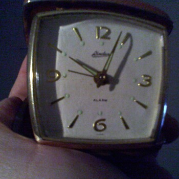 cool little linden japanese clock with a rotary club emblem on it - Clocks