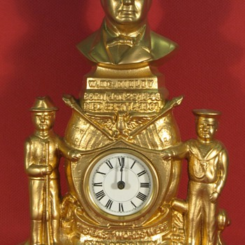 President McKinley Commemorative Clock - Clocks