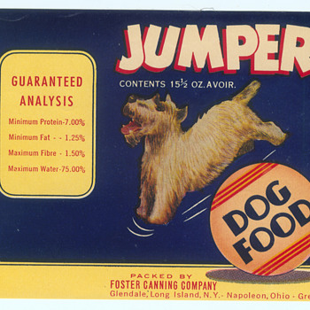 vintage unused dog food can labels  - Paper
