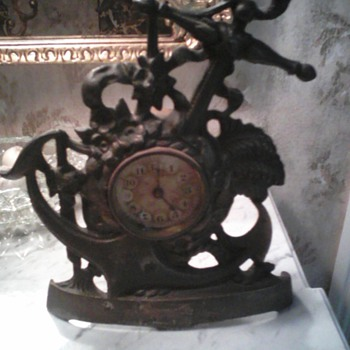 "Circa 1899 Anchor Clock: ""Patented April 25, 1899"" - Clocks"