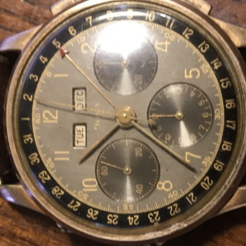 14k vintage Doxa triple date choreograph  - Wristwatches