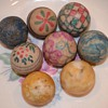 Antique painted marbles