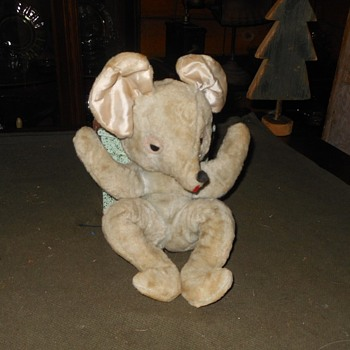 Vintage Plush Mouse Toy