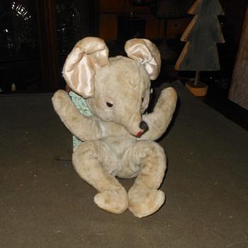 Vintage Plush Mouse Toy - Toys