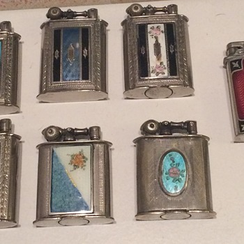 Vintage various Evans Lighters from 1920's