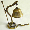 Chinese Brass Serpent Dinner Bell