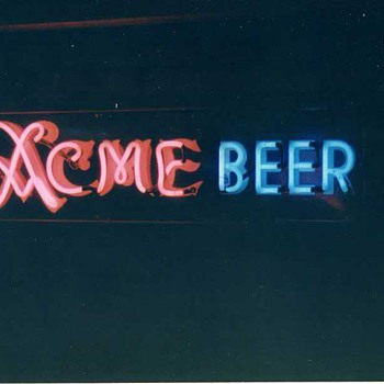 Acme Beer coldbox sign - Breweriana