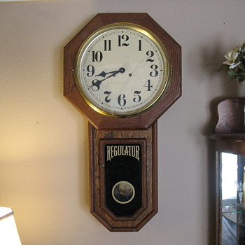 A. J. Heuring Regulator Clock - Clocks