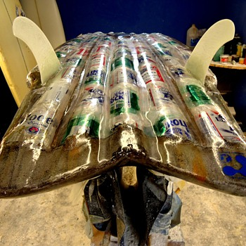 the first beer can surfboard - Breweriana