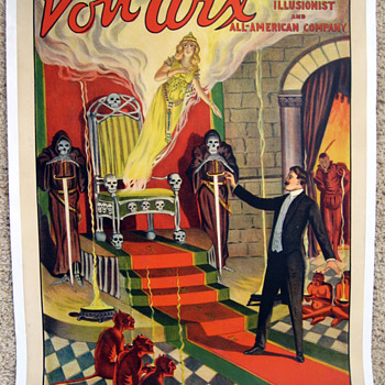 "Original Von Arx ""The Throne of Mystery"" Stone Lithograph Poster"