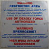 Restricted Area Sign (USAF in Germany)