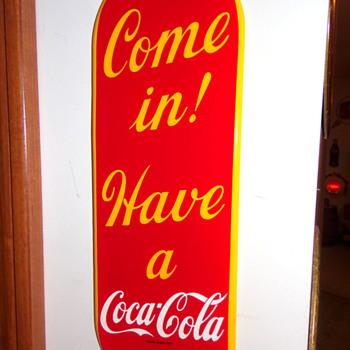 1950 Coca-Cola Porcelain Palm Press - Coca-Cola
