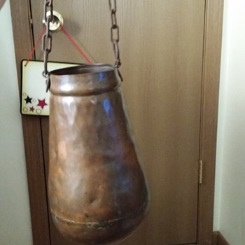 My antique copper pail
