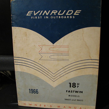 1966 Evinrude owner's Manual - Sporting Goods