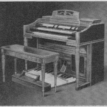 1950 Wurlitzer Organ Advertisement
