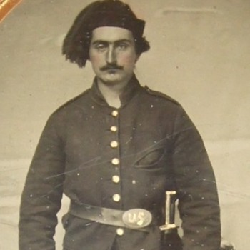 Civil War soldier Ambrotype - Military and Wartime
