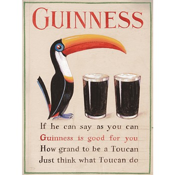 First Appearance of the Guinness Toucan Mascot: A 1935 Study by John Gilroy - Posters and Prints