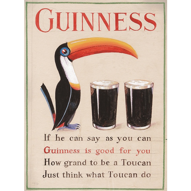 Guinness Toucan Mascot Tattoo: First Appearance Of The Guinness Toucan Mascot: A 1935